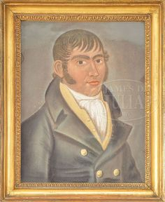 FINE PASTEL PORTRAIT OF A SEA CAPTAIN. FINE PASTEL PORTRAIT OF A SEA CAPTAIN. Second quarter 19th century, New England. Pastel on heavy paper board. Three quarter portrait depicting a young man in formal coat, vest and scarf. Formal Coat, A Sea, Sea Captain, Paper Board, Pastel Portraits, Young Man, New England, 19th Century, Acting
