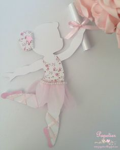 Bailarina Ballerina Birthday Parties, Ballerina Party, Baby Birthday, Ballerina Silhouette, Diy And Crafts, Paper Crafts, Baby Shawer, Tissue Paper Flowers, Baby Shower Decorations