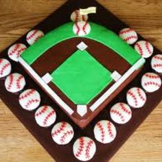 Baseball cakes I made through the years