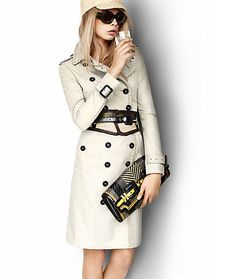 I like this new take on the classic Burberry trench   www.burberry.com