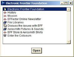 AOL Electronic Frontier Foundation ScreenShot