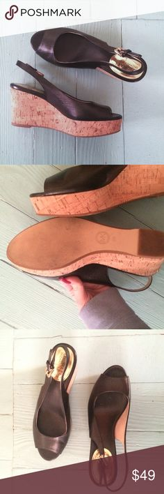 💟Michael Kors Wedge Sandal💟 Adorable Michael Kors wedges. Barely worn, maybe once or twice. Size 8M. Modest height. Michael Kors Shoes Sandals