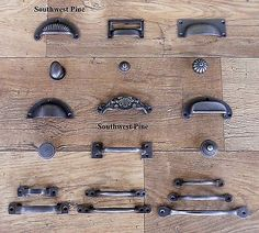 Cast Iron Cup Handle Kitchen Cupboard Door Handle Knob Antique Iron Finish