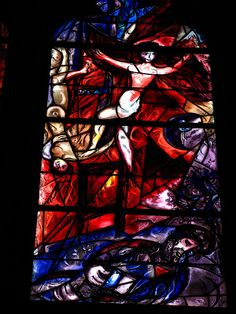 Chagall Stained Glass, St. Etienne de Metz, France