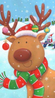 Christmas Raindeer, Christmas Fairy, Christmas Clipart, Christmas Paper, Christmas Crafts For Kids, Xmas Crafts, Christmas Printables, Christmas Pictures, Christmas Greetings