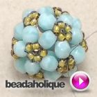 It's not as hard to make this beaded bead as you think! fun tutorial.