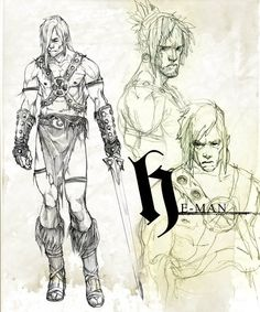 Masters of the Universe Sketches by Marko Djurdjevic | Perdido Art Journal
