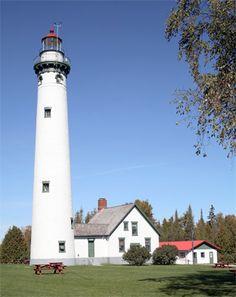 Presque Isle (New) Lighthouse, Michigan at Lighthousefriends.com