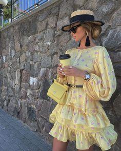 "@victoria_fox0001 on Instagram: ""Summer mood🌻 Dress @malina_fashion ✔️"" Girly Outfits, Cute Casual Outfits, Chic Outfits, Fashion Outfits, Floral Shirt Outfit, Fedora Fashion, Japanese Street Fashion, African Fashion Dresses, Elegant Outfit"