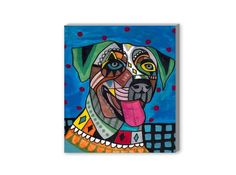 Modern Folk Dog Breed Art by Heather Galler | Coupaw