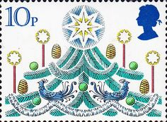 Leena, our Postationist Elf, watches as the children of Britain hang their stockings by the fireplace or a pillowcase at the end of their bed, awaiting Santa Claus. Her mouth waters when she sees them feasting of yummy desserts like mince tarts and plum pudding with brandy sauce. What a treat! (Stamp: Great Britain 1980)