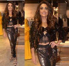 jullianapaes Juliana Paes chama a atenção com look todo de paetês. Confira!