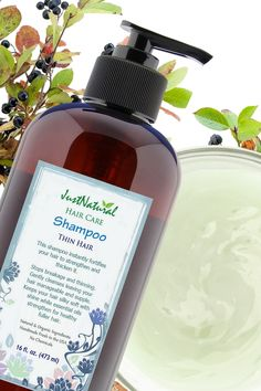This mild creamy natural shampoo for thin hair instantly fortifies your hair to strengthen and thicken it. Stops breakage and thinning. Gently cleanses leaving your hair manageable and supple. Keeps your hair silky soft with shine while essential oils strengthen for healthy fuller hair.