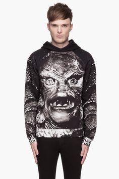 CHRISTOPHER KANE Grey Creature Print Hoodie
