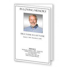 Plain Funeral Program Template