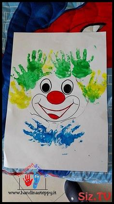 Clown fatto dal piccolo Vincenzo Handprint Clown Craft for Kids Related Simple Tips to Study EffectivelyThis Guy Will Teach You How To Look Sharp On The StreetSensory Board for Toddler Busy Board Toy. Clown Crafts, Circus Crafts, Carnival Crafts, Carnival Tent, Carnival Decorations, Carnival Prizes, Carnival Makeup, Toddler Preschool, Toddler Crafts