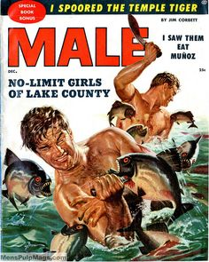 MALE, December 1955. Cover by George Gross by SubtropicBob, via Flickr