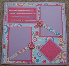 Floral 12 x 12 Premade Scrapbook Page by AngiesCreativeCrafts, $14.00