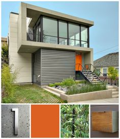 Admirable Small House Types, Plans And Exterior Ideas: Great Exterior Modern Small Houses Designs With Wide Glass Windows Also Simplistic Architecture Exterior And Landscaping Schemes Added Green Garden Front Yard Views Modern Small House Design, Small Modern Home, Minimalist House Design, Modern House Plans, Tiny House Design, Modern Minimalist, Modern Design, Modern Kids, Modern Family