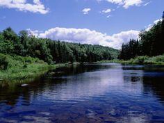 New York, Adirondack State Park, Adirondack Mountains, Raquette River Near Long Lake Photographic Print at AllPosters.com
