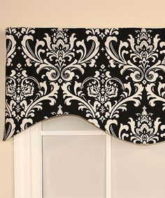 Look at this RLF Home Black Regal Medallion Cornice Valance on #zulily today!