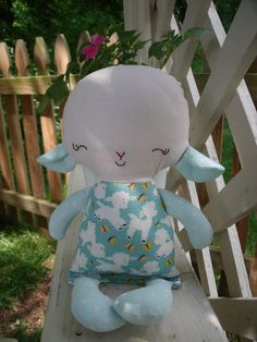 My Friend Lacey lamb   a handmade cloth doll by mgpscrapbooker on Etsy.
