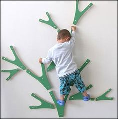 Designed by Kaja Osholm Kjls from Norwegian, the Buskas Climbing Trees Y shaped branches can be combined in various ways so you can build the perfect indoor climbing wall at home. Kaja designed the climbing tree as part of his diploma project at The Oslo School of Architecture and Design in 2008 - but is yet to reach manufacture. Via Babybites