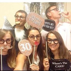 Adult Birthday Party Ideas: 30 birthday photo props from BigDotOfHappiness.com
