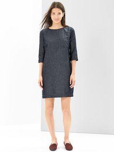 Indigo shift dress Product Image