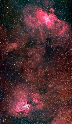 The Eagle and Swan Nebulae