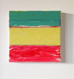 10 x 10 inch Original Acrylic Painting by YellowRedAndBlue