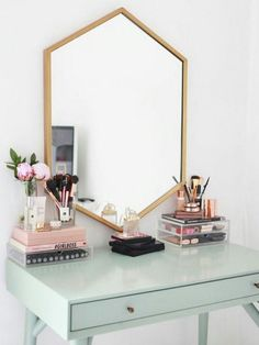 The Prettiest Makeup Organization Ideas You *Need* to Try via Brit + Co