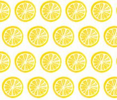 kitchy curtains! LEMON fabric by nancy_von_bea on Spoonflower - custom fabric