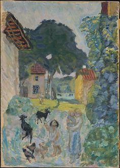 Pierre Bonnard (French, Fontenay-aux-Roses 1867–1947 Le Cannet)  Village Scene, Grasse