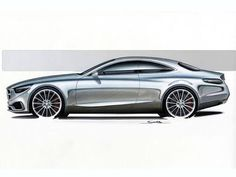 Mescedes-Benz S Class Coupe  Desing Sketch