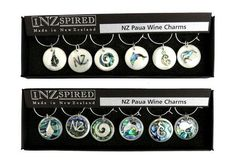 NZ Paua Shell Wine Charms (packs of 6) http://www.shopenzed.com/nz-paua-shell-wine-charms-packs-of-6-xidp678794.html