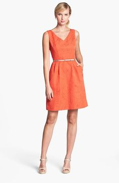 Ellen Tracy Jacquard Fit & Flare Dress available at #Nordstrom
