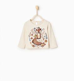 T-shirt met wolfapplicatie