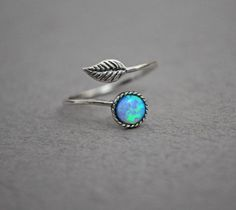 Hey, I found this really awesome Etsy listing at https://www.etsy.com/listing/386620160/opal-leaf-ring-adjustable-ring-opal-ring