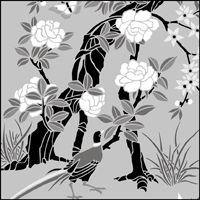 Panel no 1 stencil.