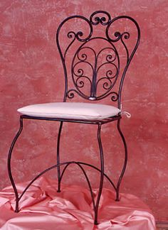 Pretty wrought iron chair