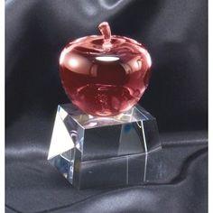 Optical Crystal Apple Teachers Award | Teacher of the Year Crystal Trophy