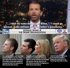 """Post with 3466 votes and 165592 views. Tagged with donald trump, maga, donald trump jr; Shared by """"I wish my name was Hunter Biden"""" Biden Trump, Trump Bankruptcies, Putin Trump, Trump Lies, Trump Idiot, Trump Quotes, Trump Cartoons, Political Quotes, Political Satire"""