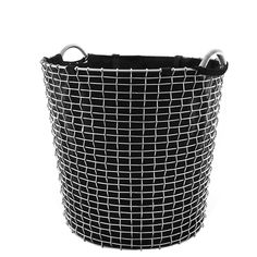 Laundry bag wire basket Classic 65, black, by Korbo.
