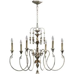 Salento Six Light Persian White Chandelier