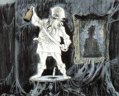 Disneyland Haunted Mansion Concept Art- Marc Davis - Pirate Ghost Painting