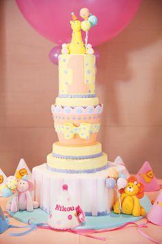 Gorgeous Pink & Gold Wild Animals First Birthday