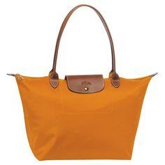 Love Longchamp. The le pliage tote in orange