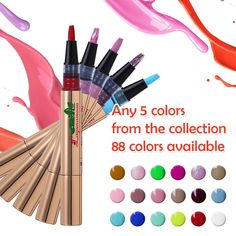 Lagunamoon TO-GO Gel Nail Polish Pen,Soak off UV LED Gel (Pack of 5) ** Continue to the product at the image link.