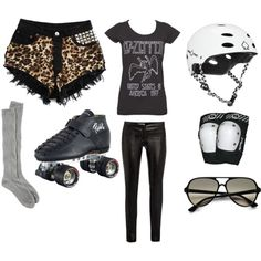 """Roller Derby Wear"" by popfizzacademy on Polyvore"